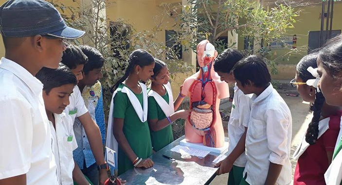 School Students at Science Programme