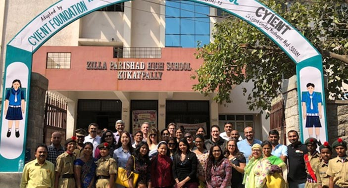 Cyient Leaders Visit At Their Adopted School