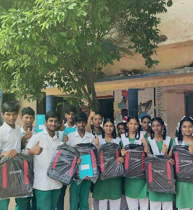 Distribute Happiness In Terms Of School Bag In Govt. School