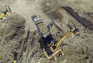 Construction Heavy Equipment Top View
