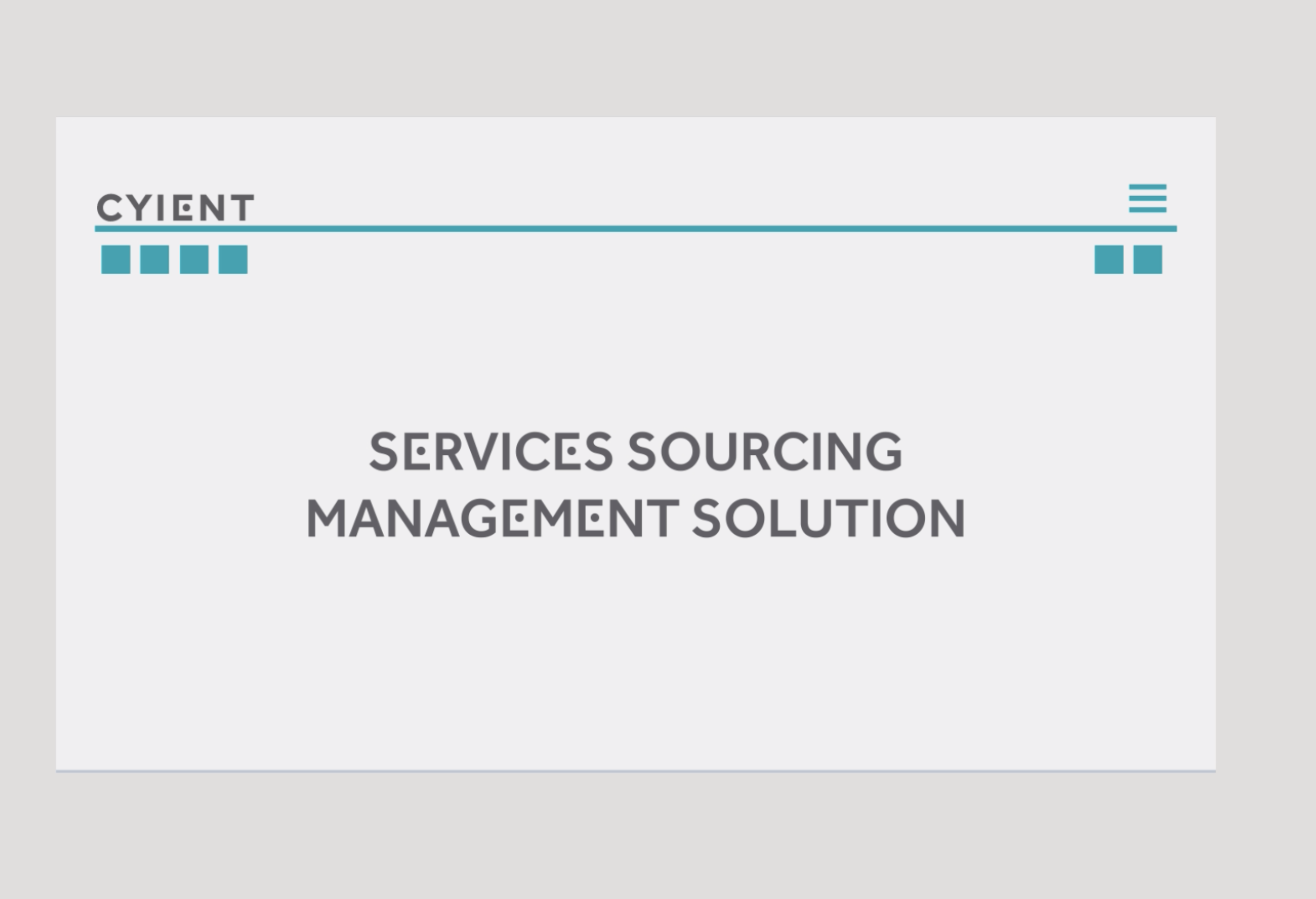 Services Sourcing Management